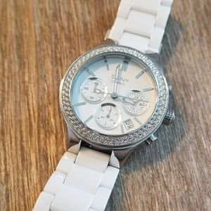 DKNY White Ceramic Watch